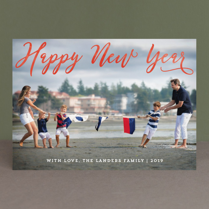 """""""Happiest Overlay"""" - Christmas Photo Cards in Snow by Chasity Smith."""