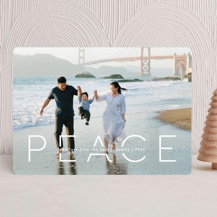 """""""Quietude"""" - Christmas Photo Cards in Glacier by Rebecca Daublin."""
