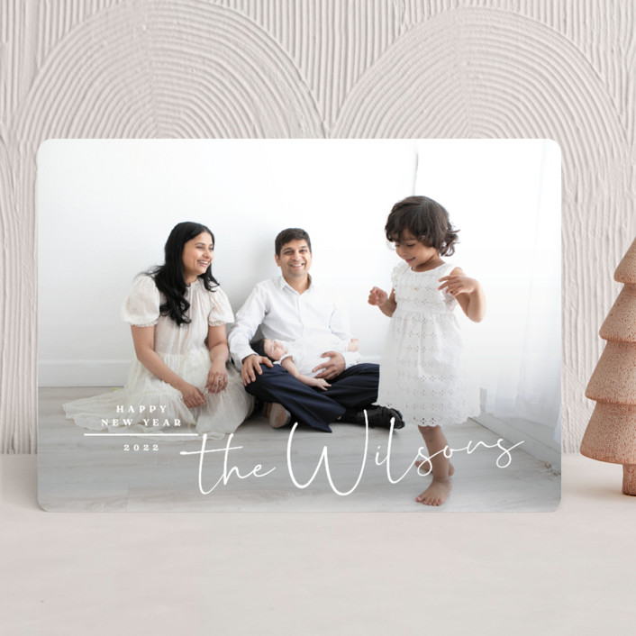"""""""Merry Minimal"""" - Christmas Photo Cards in Snow by Owl and Toad."""