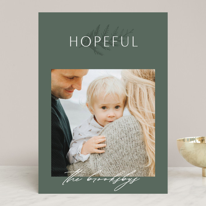 """""""Gratitude"""" - Christmas Photo Cards in Evergreen by Erin L. Wilson."""