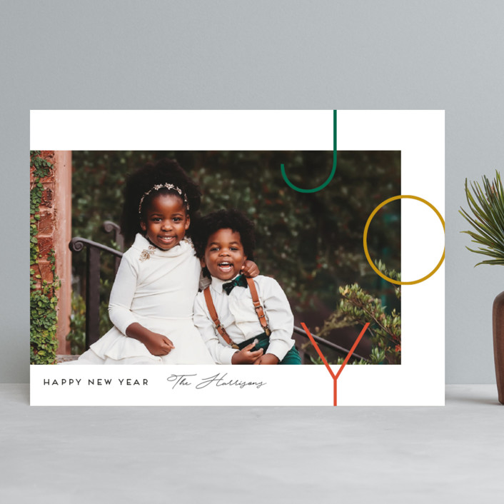 """""""Staggered joy"""" - Christmas Photo Cards in Forest by Genna Blackburn."""