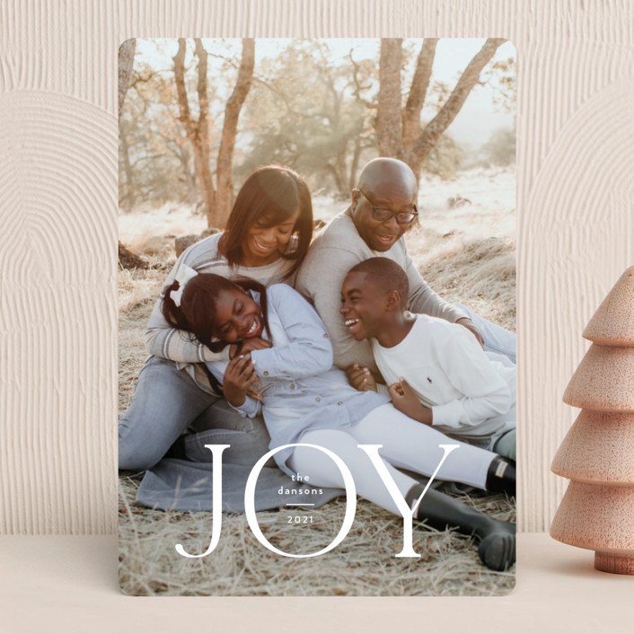 """Joyful Tidings"" - Christmas Photo Cards in Snowfall by Susan Asbill."