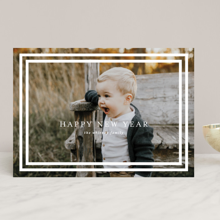 """""""Simple Believe"""" - Modern Christmas Photo Cards in Snow by Christie Garcia."""