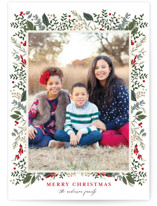 This is a green photo christmas card by Susan Moyal called Classic Christmas with standard printing on smooth signature in standard.