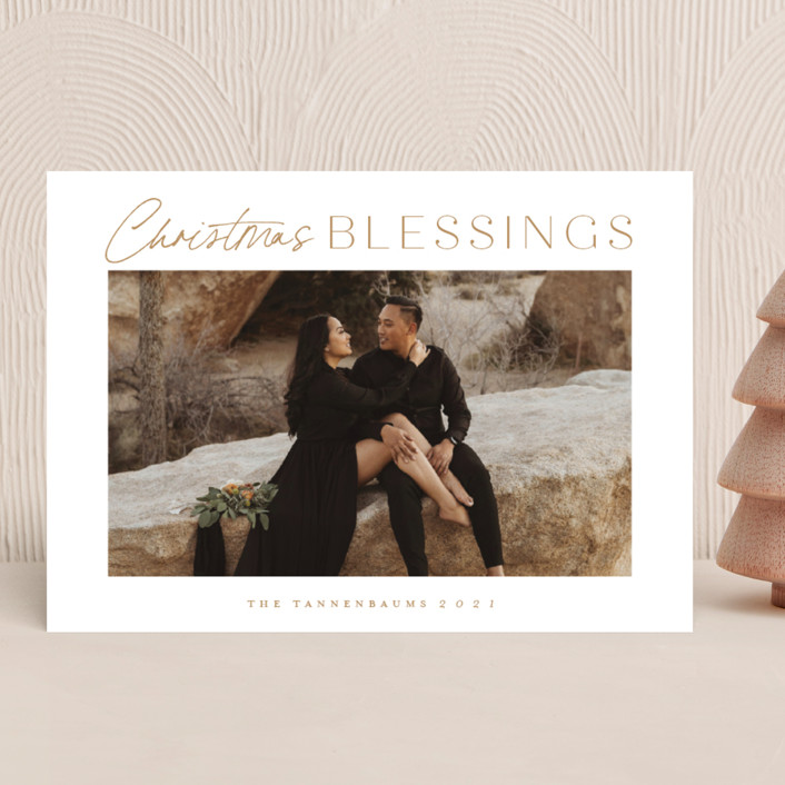 """""""In abundance"""" - Christmas Photo Cards in Wheat by Stacey Meacham."""