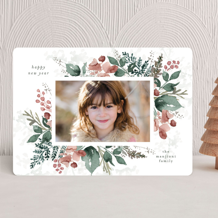 """""""Rejoice in Blessings"""" - Christmas Photo Cards in Rose by Chris Griffith."""