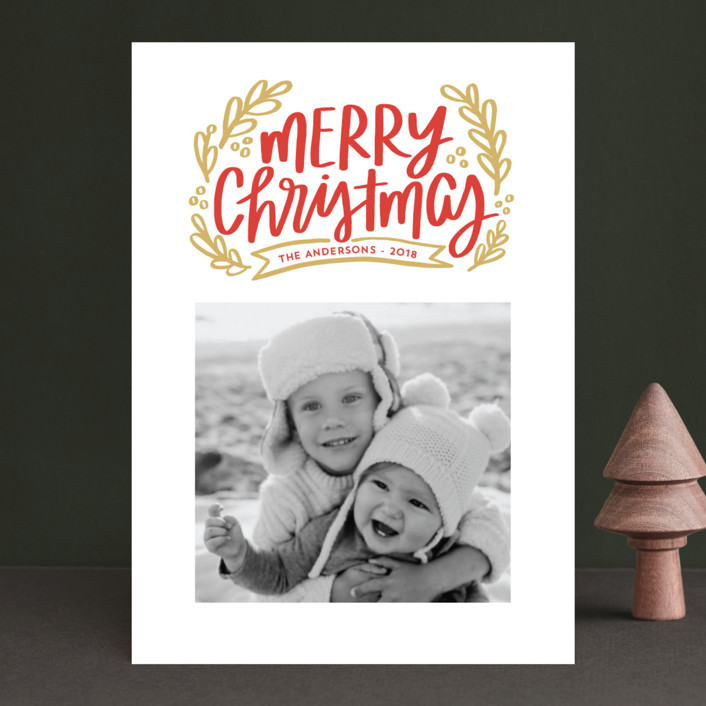 Merry Little Branches Christmas Photo Cards by Little Print Design ...