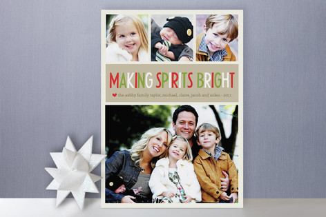 Making Spirits Bright Christmas Photo Cards
