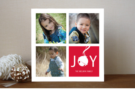 Jingle Squares Christmas Photo Cards