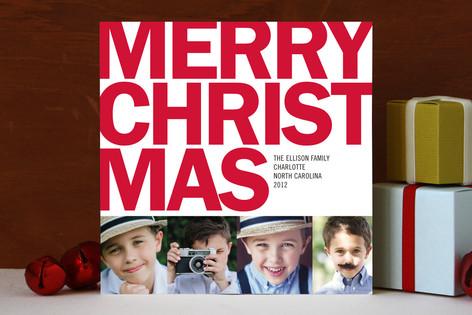 Four Square Christmas Photo Cards