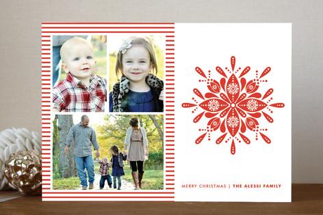Nordic Snowflake Christmas Photo Cards