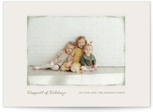 This is a green photo christmas card by Gray Star Design called Vintage Frame with standard printing on smooth signature in standard.