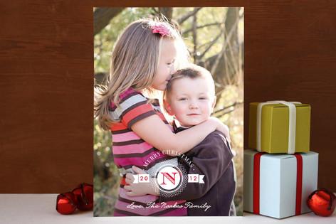 Medallion Christmas Photo Cards