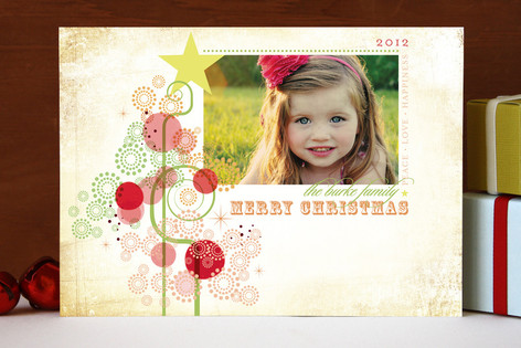 Candy Tree Christmas Photo Cards