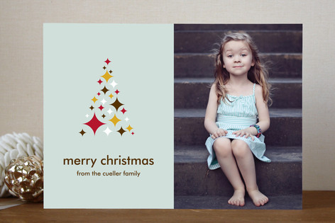 O Starry Tree Christmas Photo Cards