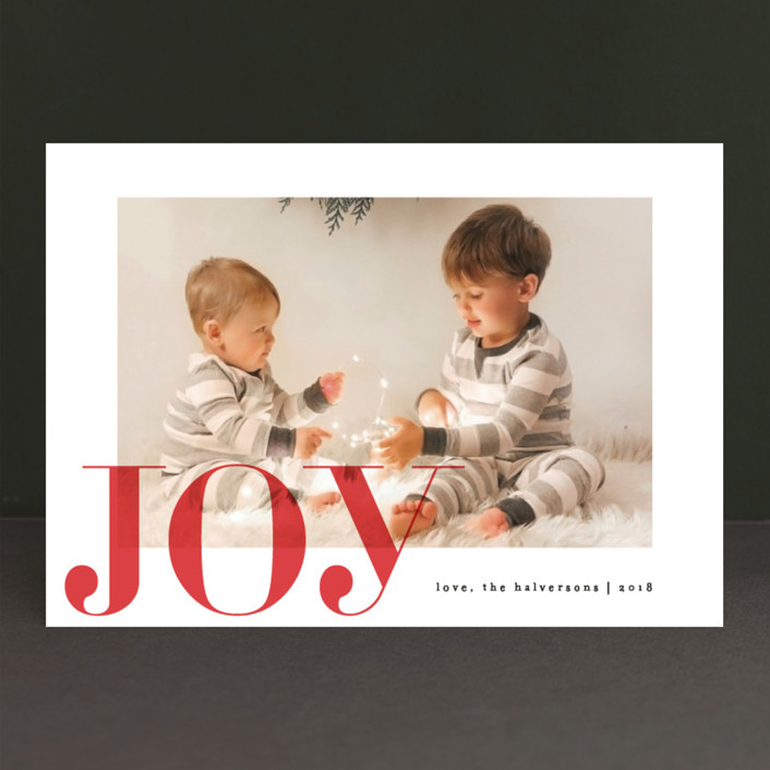 """""""Tome"""" - Christmas Photo Cards in Berry by carly reed walker."""