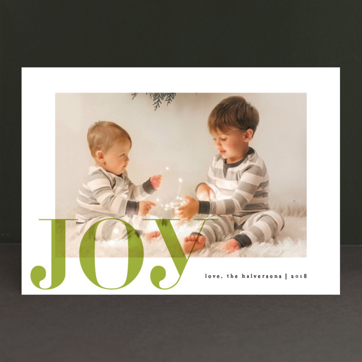 """Tome"" - Christmas Photo Cards in Berry by carly reed walker."