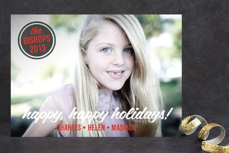 Retro Tidings Christmas Photo Cards