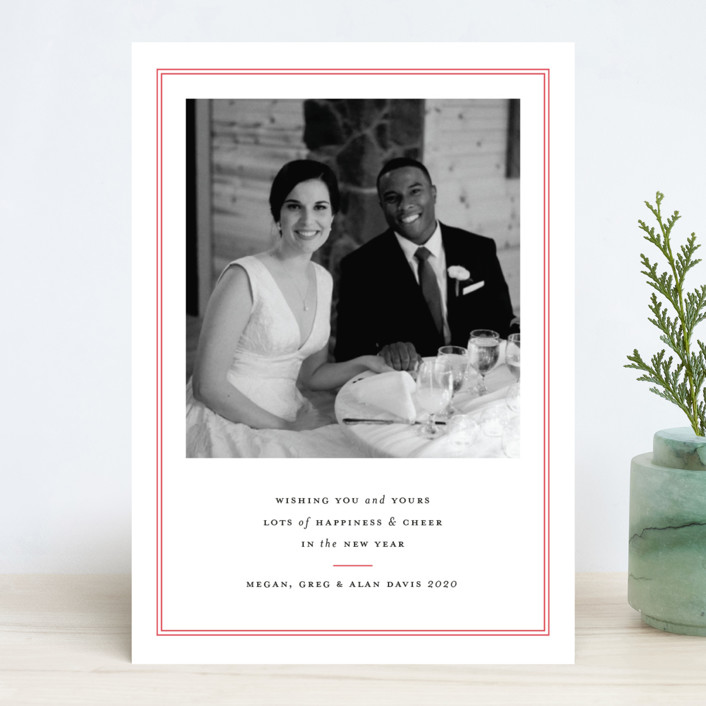 """Pure Joy"" - Christmas Photo Cards in French Blue by Toast & Laurel."