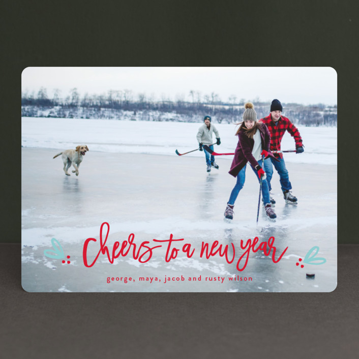 """Berries of fun"" - Christmas Photo Cards in Icicle by Michelle Poe."