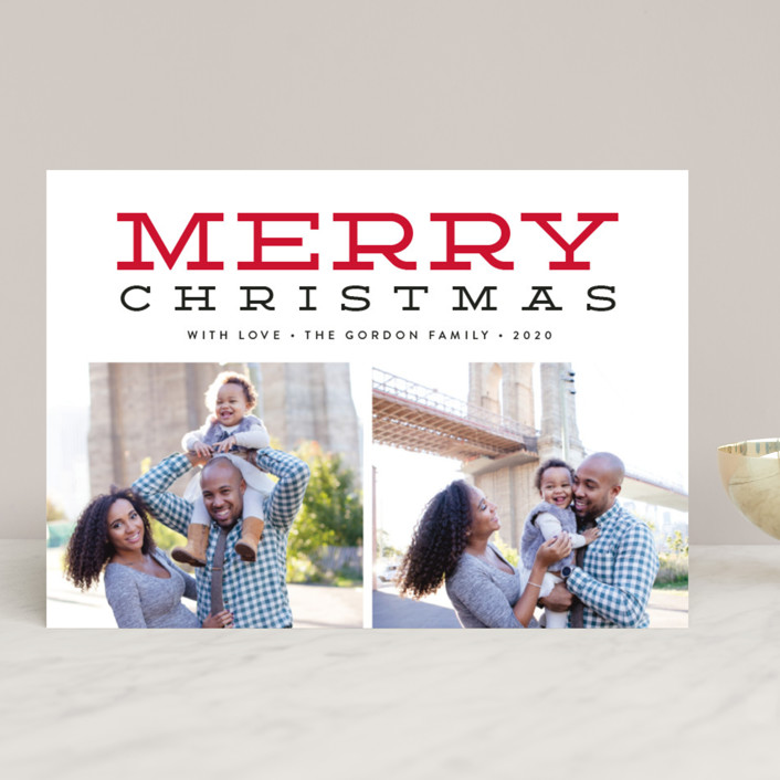 """""""Merry Gallery"""" - Christmas Photo Cards in Snowflake by Susan Asbill."""