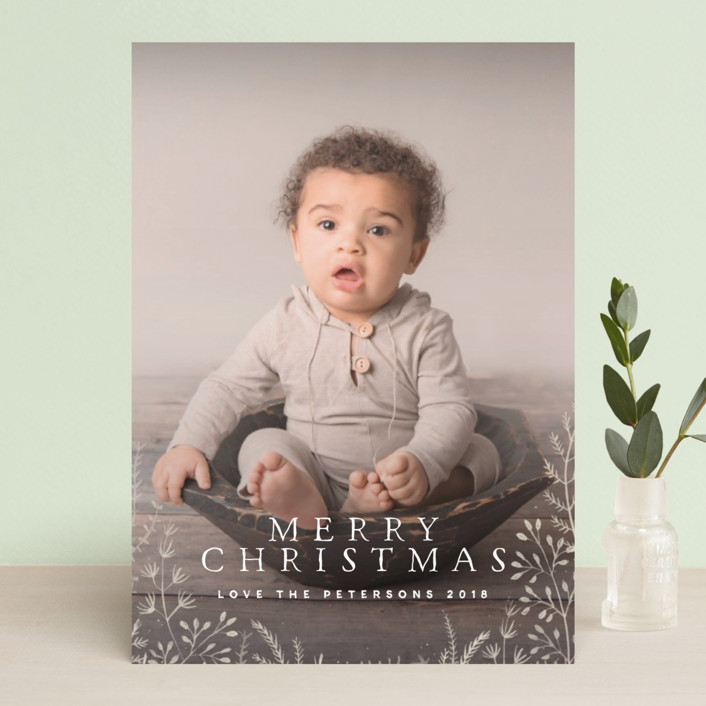 """Wild and Free"" - Christmas Photo Cards in Corn flower by Design Lotus."