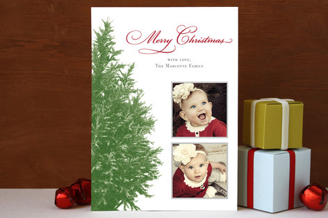Wintery Tree Christmas Photo Cards
