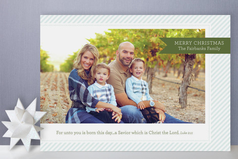 Holiday Prep (Scripture) Christmas Photo Cards