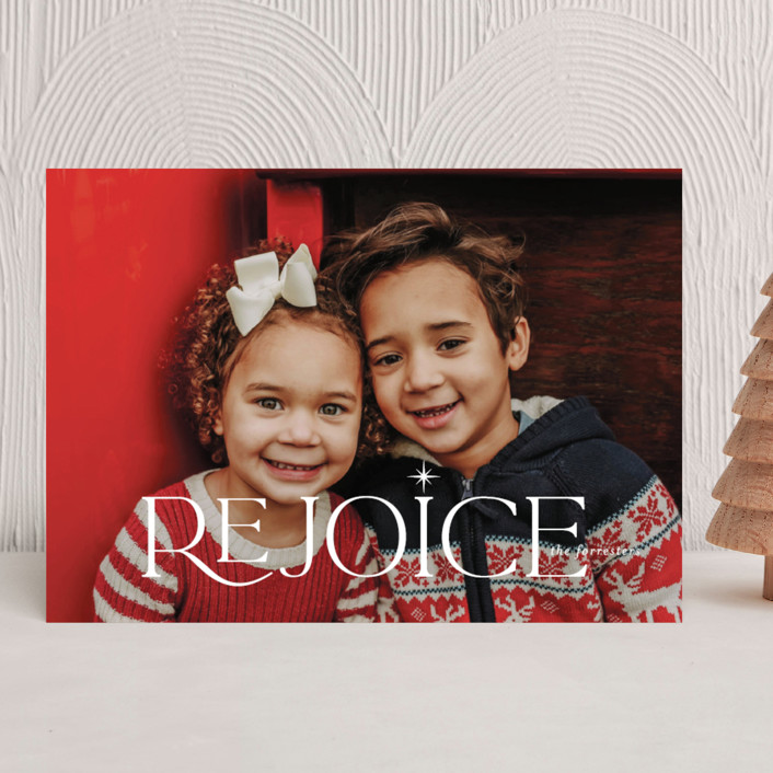 """Glimmer"" - Christmas Photo Cards in Frost by Jessica Williams."