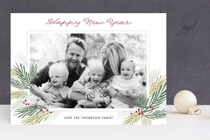 """""""Pine Boughs"""" - Christmas Photo Cards in Snow by Eric Clegg."""