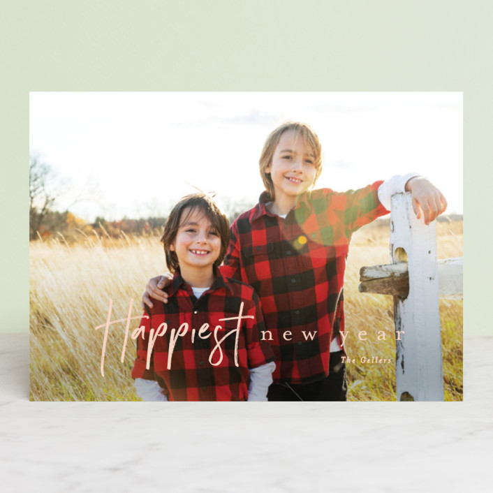 """canoli"" - Christmas Photo Cards in Peach by chocomocacino."
