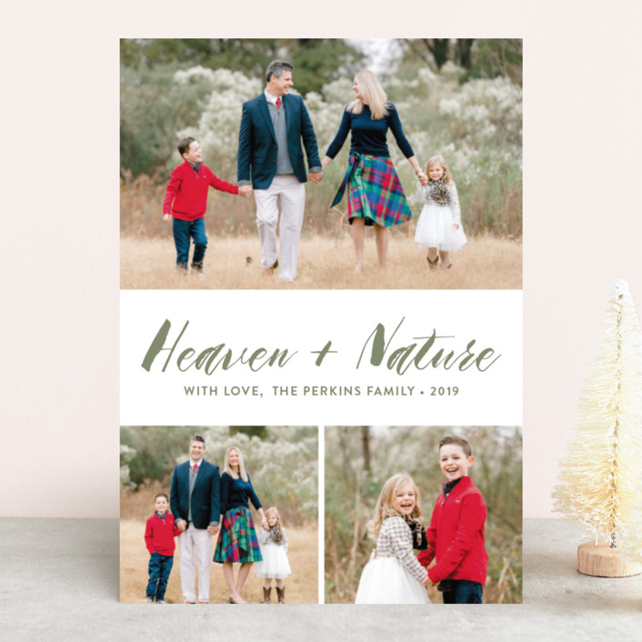 """""""Heaven&Nature"""" - Christmas Photo Cards in Snow by Chasity Smith."""