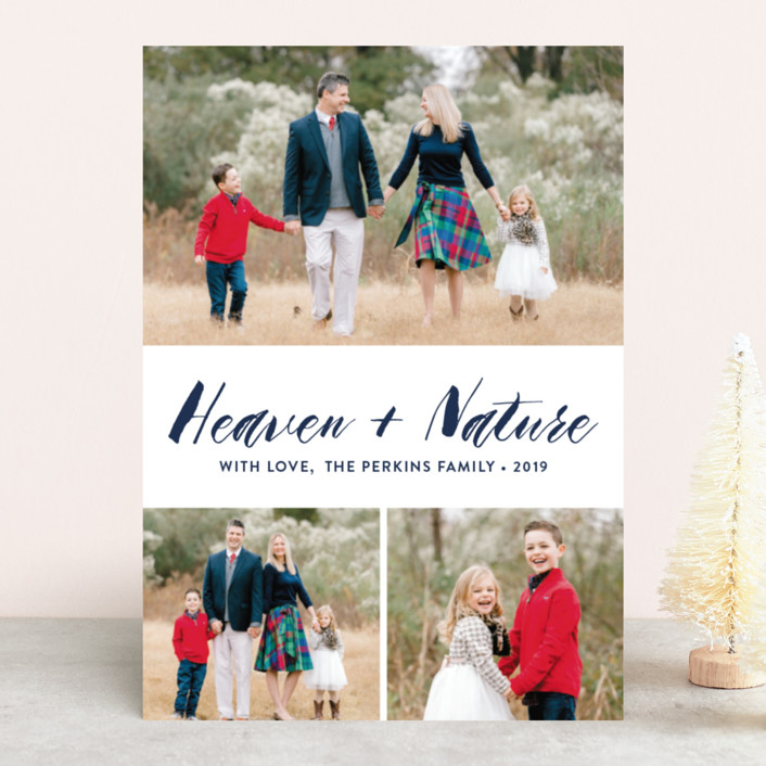 """Heaven&Nature"" - Christmas Photo Cards in Medallion by Chasity Smith."