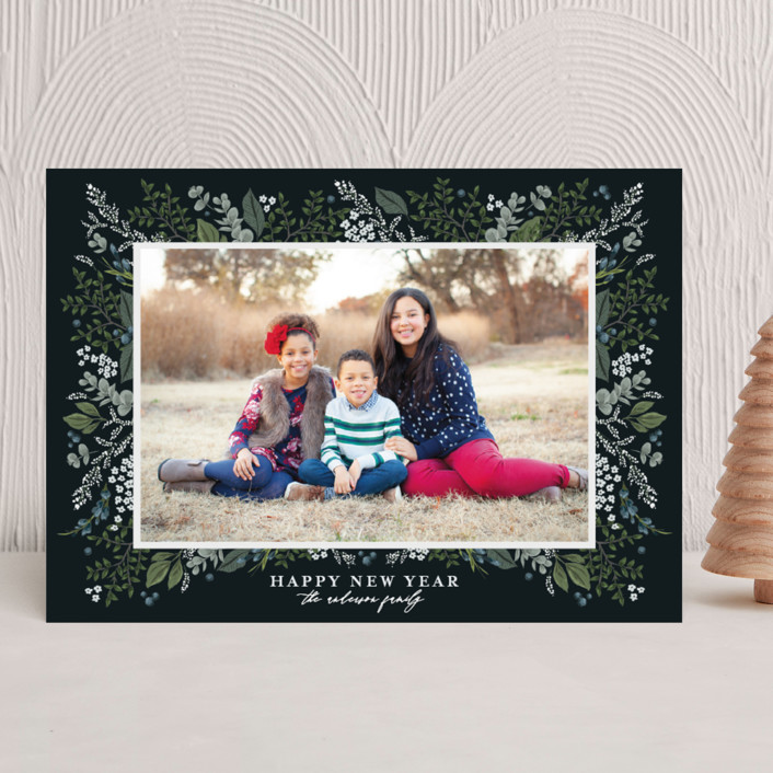 """Classic Christmas"" - Christmas Photo Cards in Twilight by Susan Moyal."