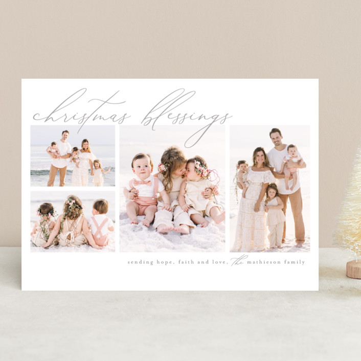 """Hope, love and faith"" - Christmas Photo Cards in Snow by Chris Griffith."
