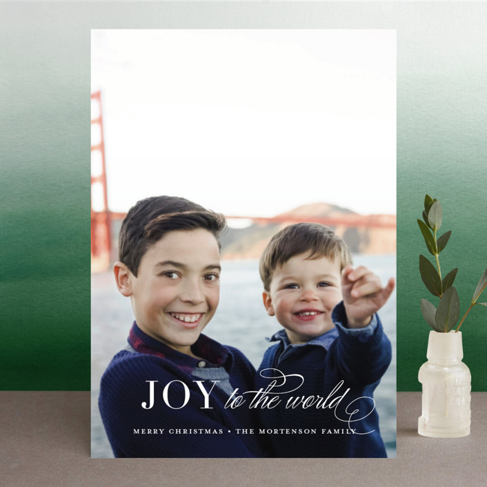 """Graceful Peace"" - Christmas Photo Cards in Snowflake by Jessica Williams."