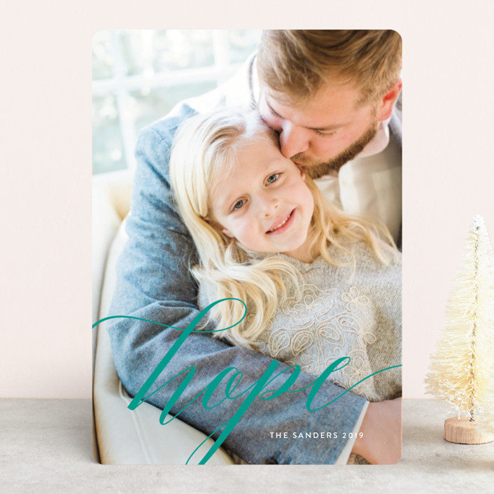 """""""A Time of Hope"""" - Christmas Photo Cards in Snow by Melissa Casey."""