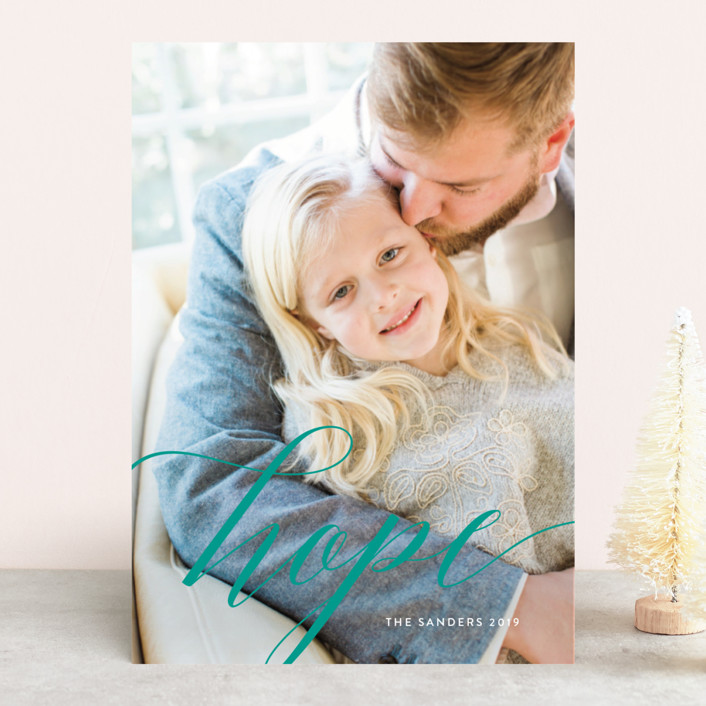 """A Time of Hope"" - Christmas Photo Cards in Snow by Melissa Casey."