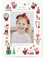 This is a pink photo christmas card by Morgan Ramberg called Happy Santas with standard printing on smooth signature in standard.