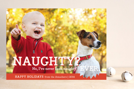 Naughty or Nice Christmas Photo Cards
