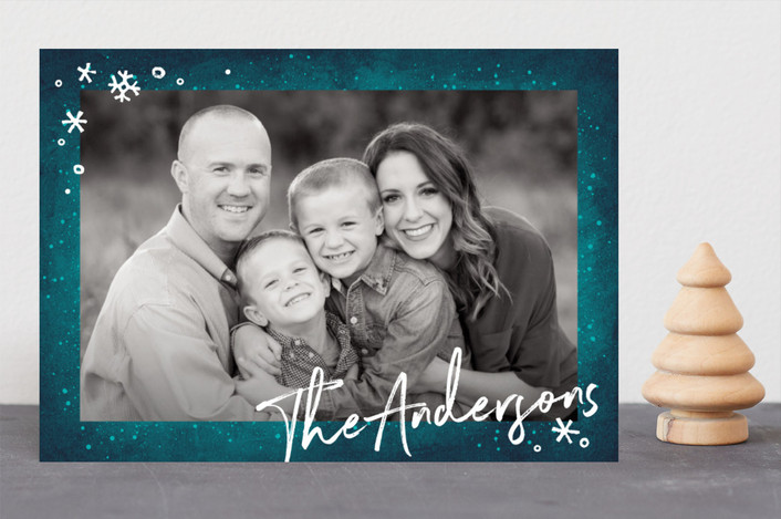 """Frost"" - Christmas Photo Cards in Glacier by GeekInk Design."