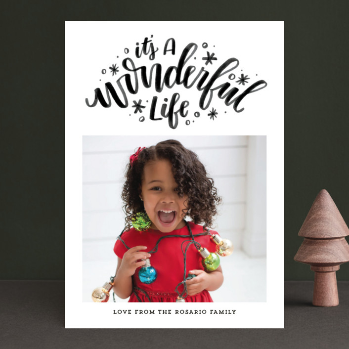"""""""Simply Wonderful"""" - Christmas Photo Cards in Ruby by Cat Caudillo."""