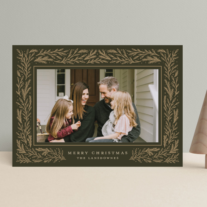 """""""Winter Fest"""" - Christmas Photo Cards in Evergreen by Meagan Christensen."""