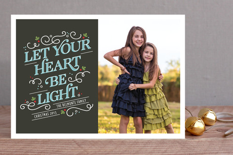 Lighthearted Type Christmas Photo Cards