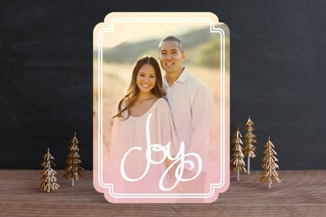 Sunset Joy Christmas Photo Cards