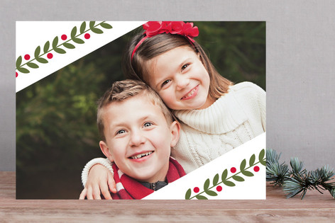 Berry Boughs Christmas Photo Cards