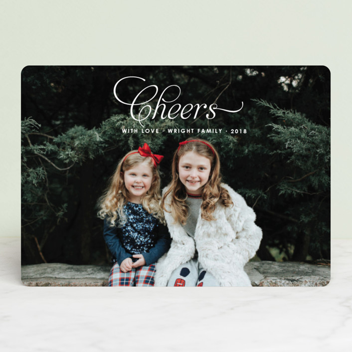 """""""Christmas Blessing"""" - Christmas Photo Cards in Snow by Toast & Laurel."""