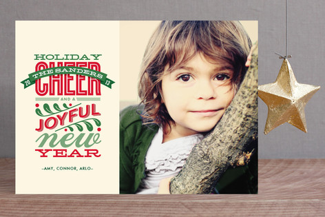 Cheery Type Christmas Photo Cards