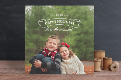 Evergreen Christmas Photo Cards