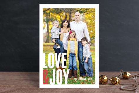 Love&Joy Christmas Photo Cards